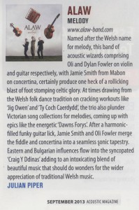 ALAW ACOUSTIC MAG